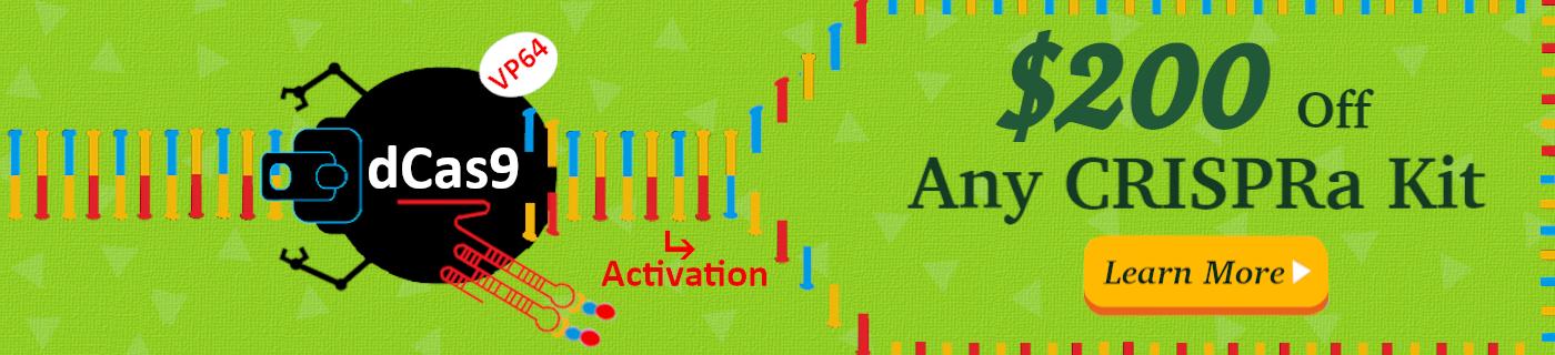 Save $/€ 200 on all CRISPRa Gene Activation Kits